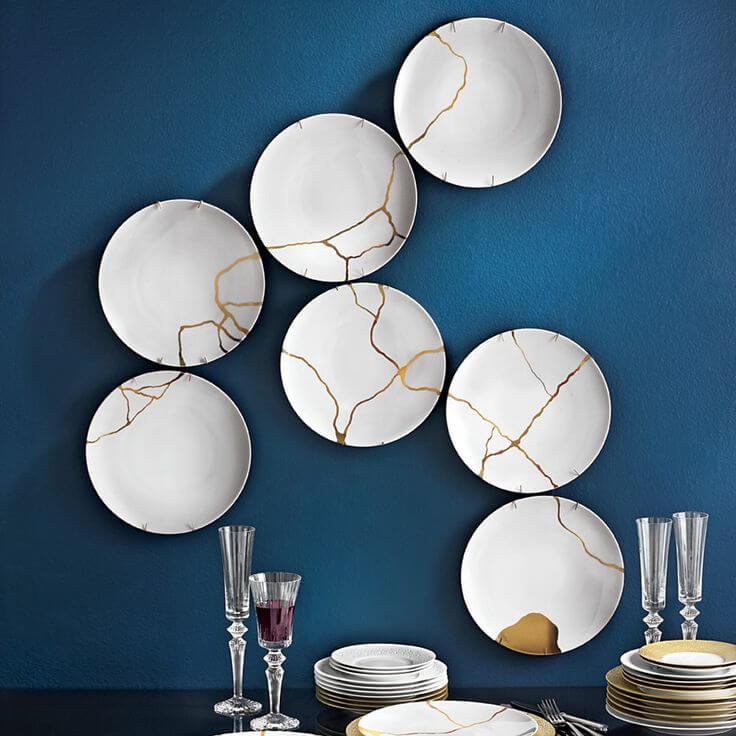 Kintsugi Ceramic Plates