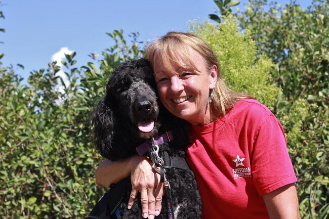 Decorative Materials Freedom Service Dog Trainer Cathy