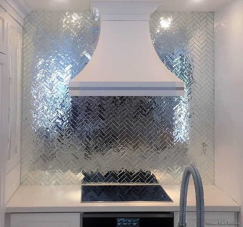 Mirrored Herringbone Kitchen