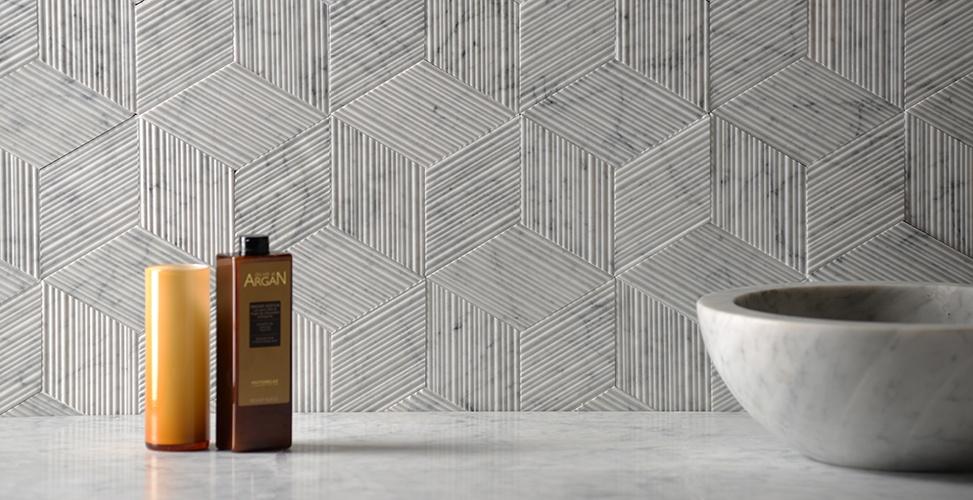 Romboo Bianco Carrara Natural Stone