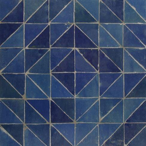 turquoise mosaic house
