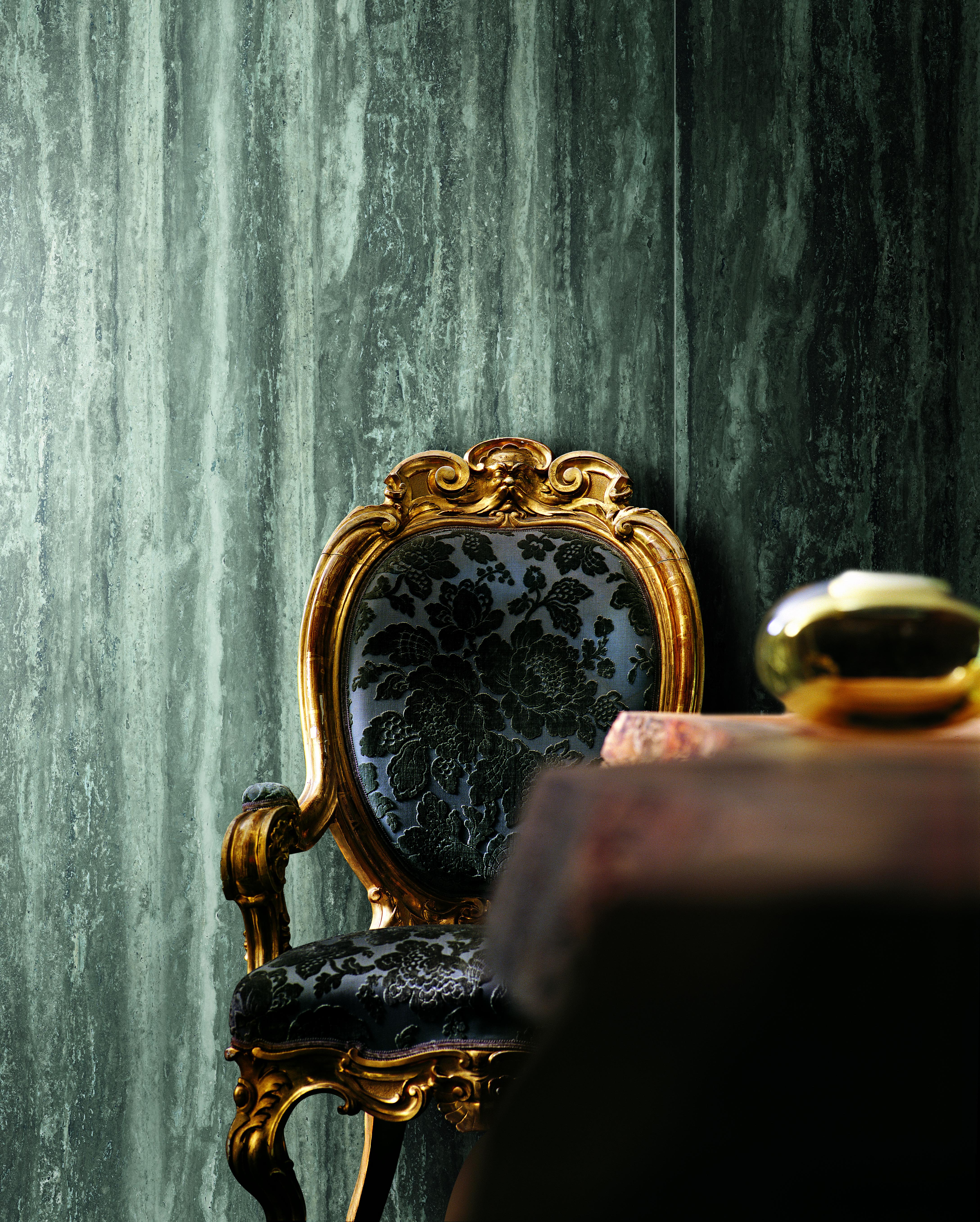 black wall tile