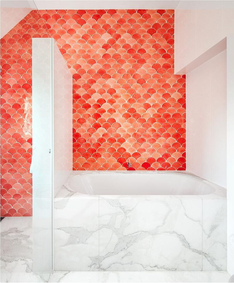 Fish Scale Coral Tile