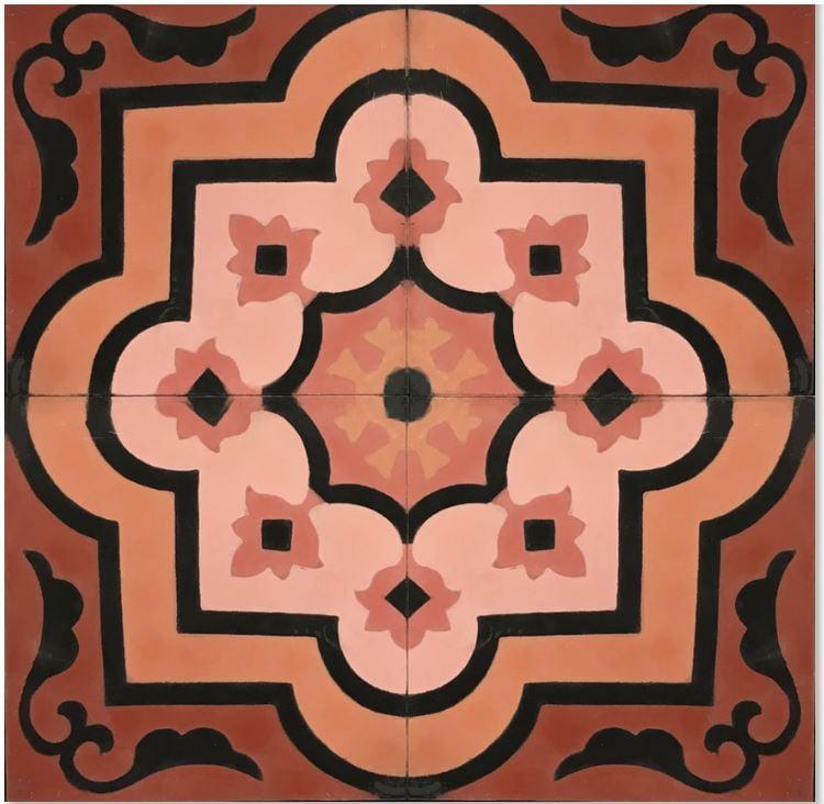 Mosaic House Coral Encaustic