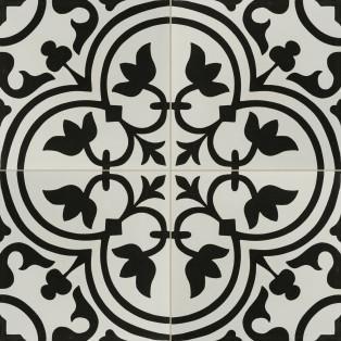 porcelain Hydraulic Black tile