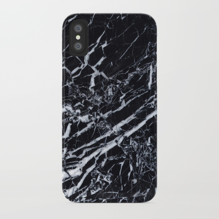 real-marble-black-cases
