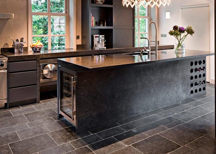 stone floor with patina