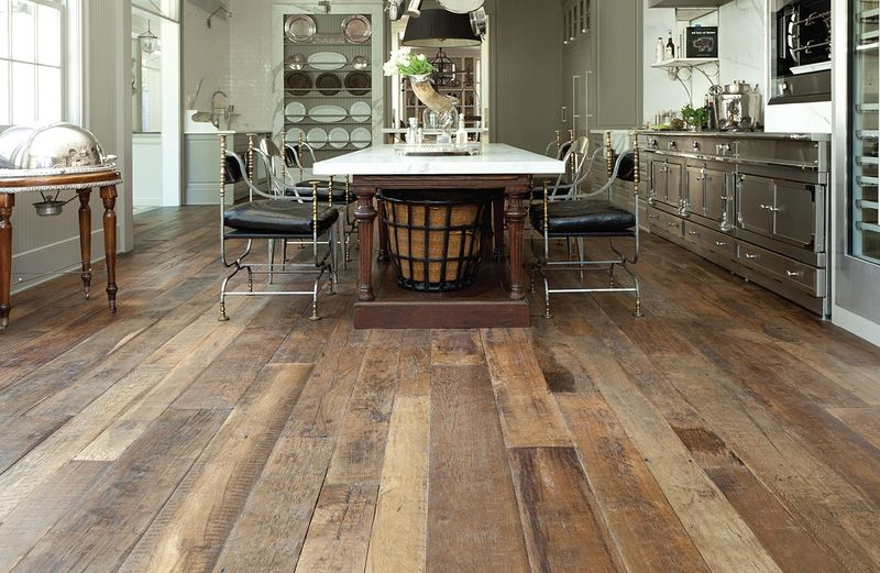 wood floor with patina